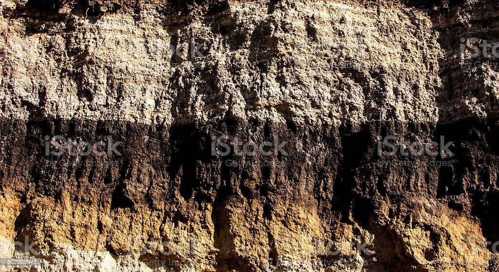 Geological cut stock photo