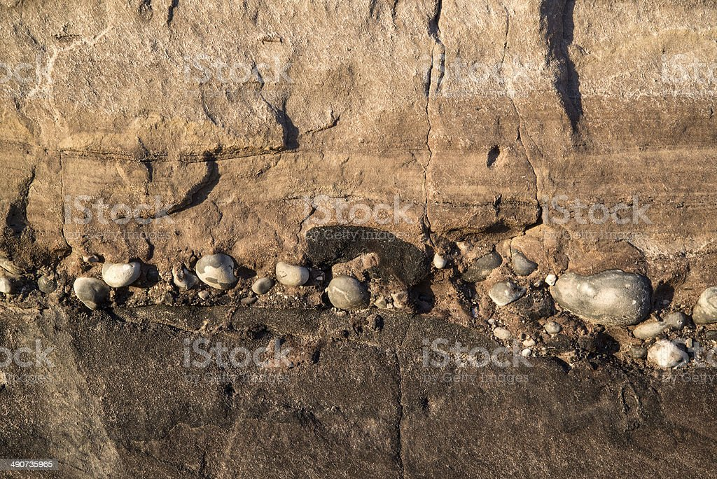 Geological detail image mesozoic rock landscape close up stock photo