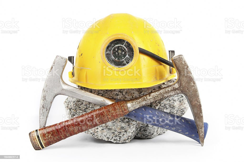 Geological exploration tools stock photo