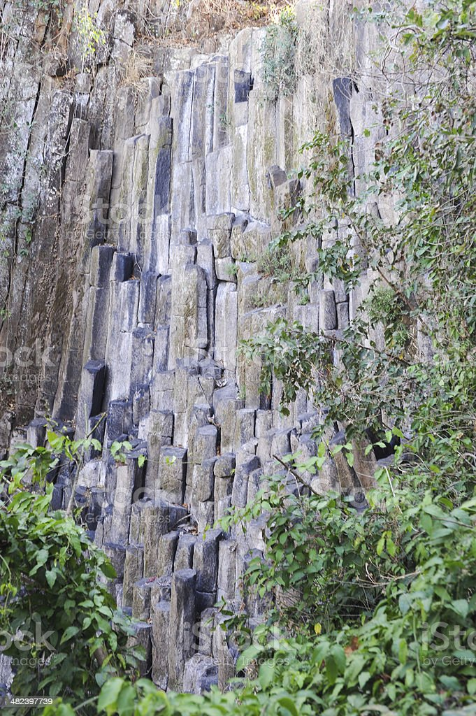 Geological Feature of Los Tercios waterfall near Suchitoto stock photo