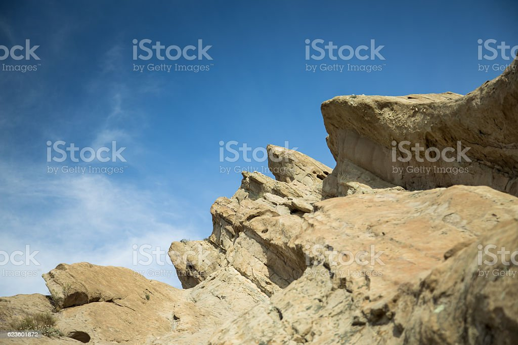 Geological Formation at Vasquez Rocks stock photo