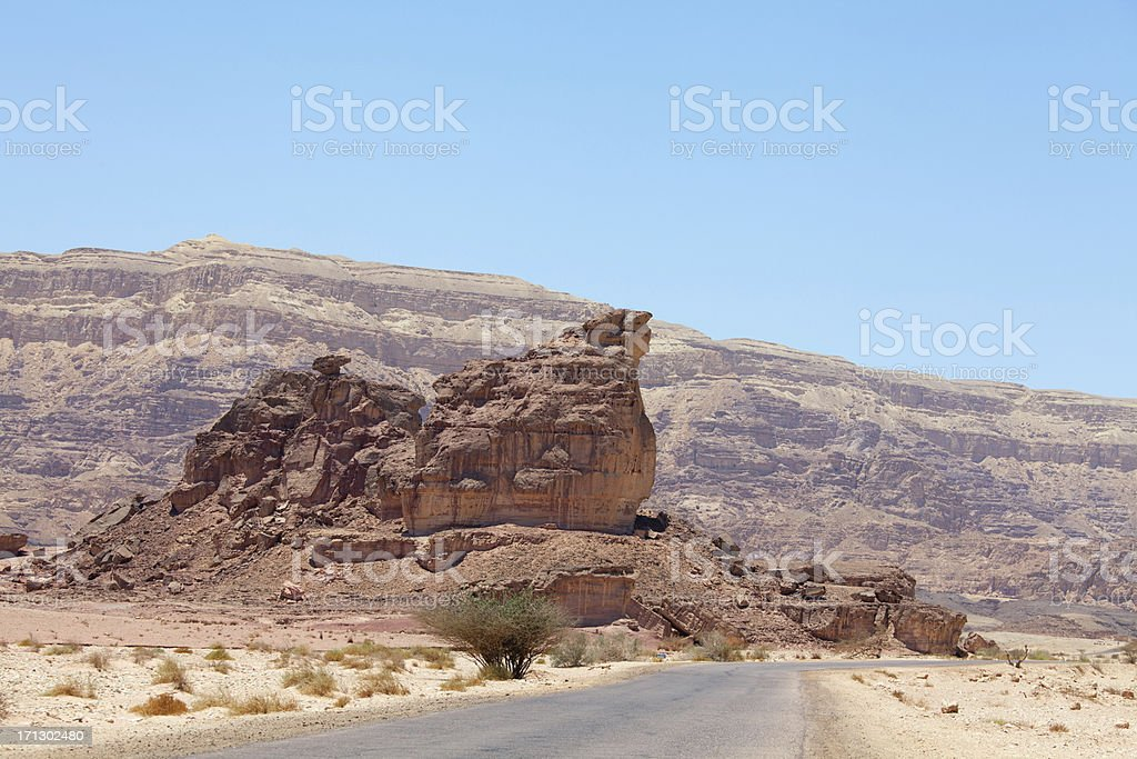 Geological formation in desert stock photo