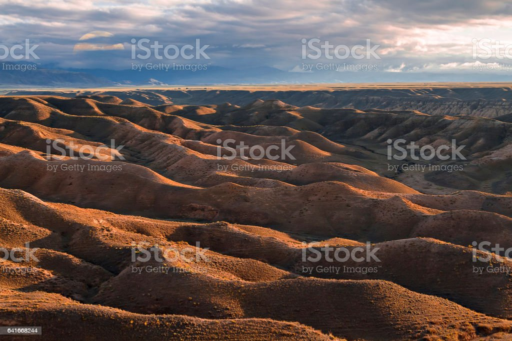 Geological formations in Kazakhstan. stock photo
