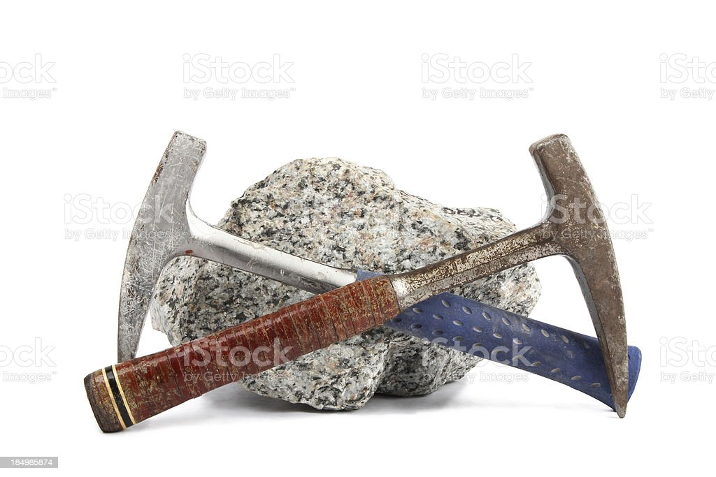 Geological hammers stock photo