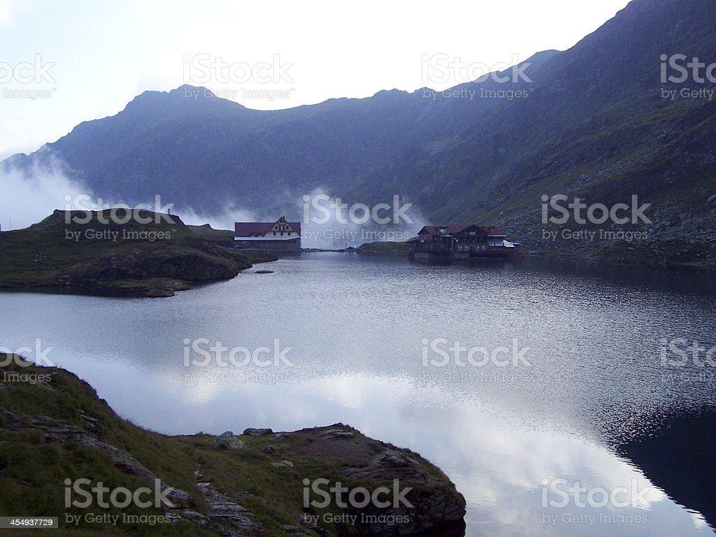 Geological Lake In Mountain stock photo