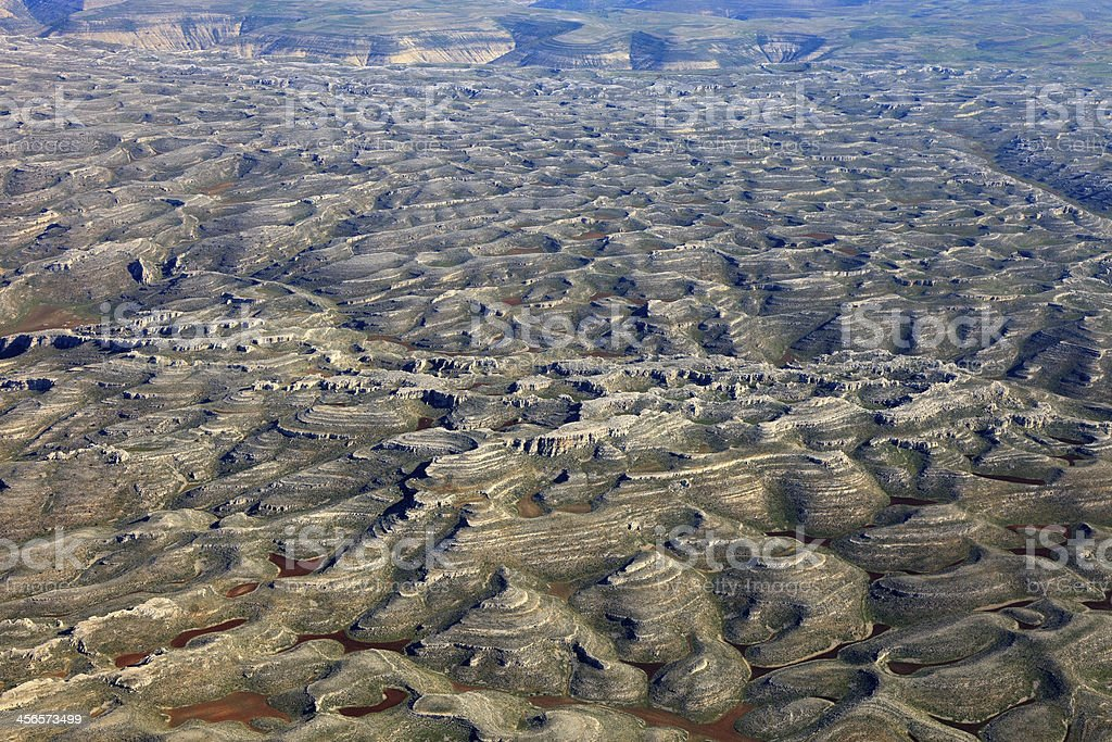 Geological landform ,Mersin – Turkey stock photo