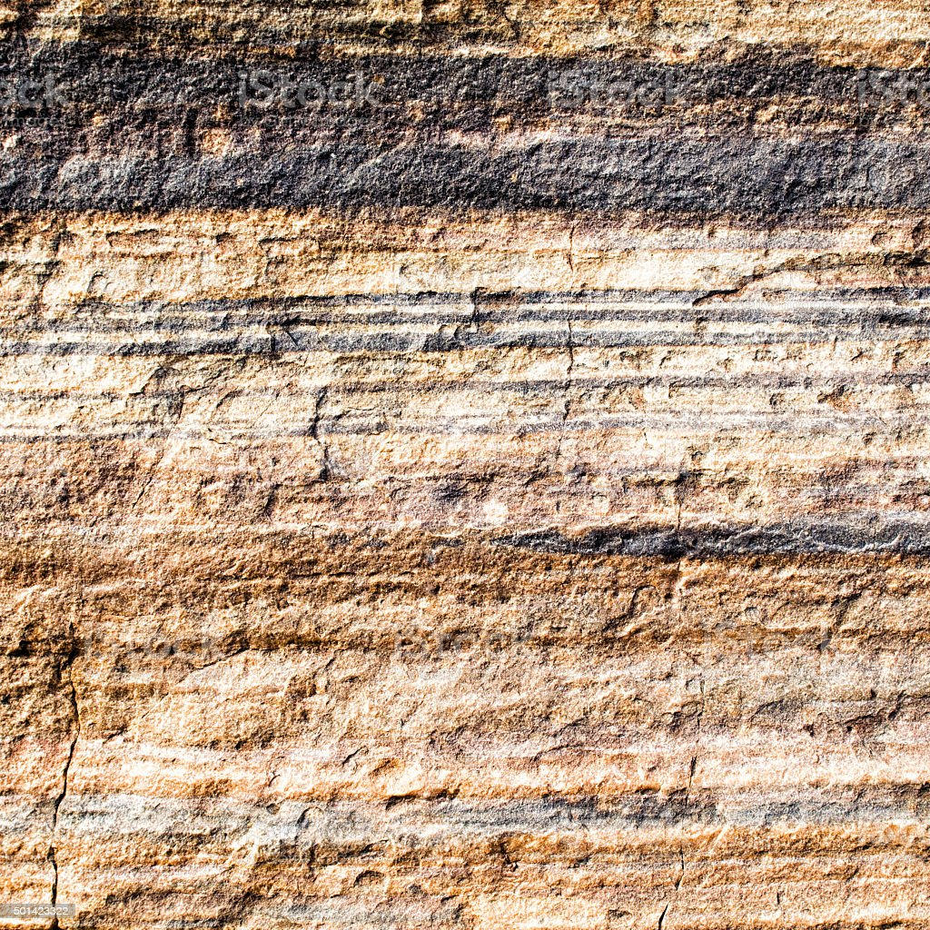 Geological Layers of Rock Strata stock photo