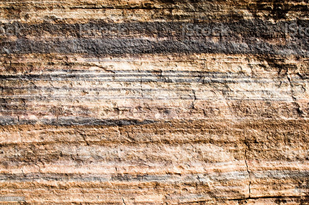 Geological Layers royalty-free stock photo