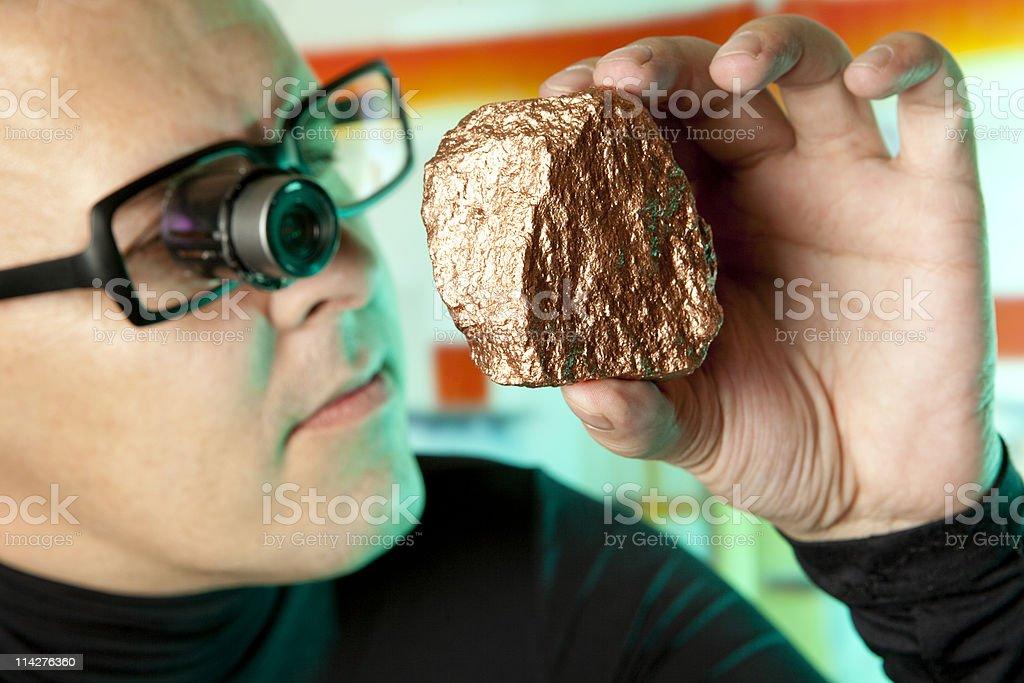 Geologist stock photo