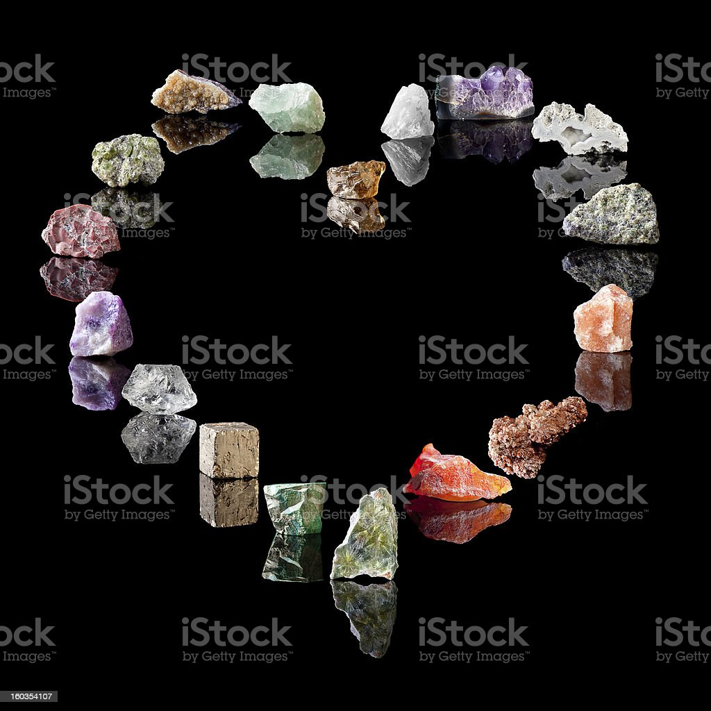 Geology collection of minerals stock photo