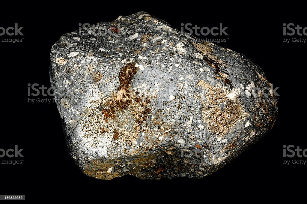 Geology Silver Moss Colored Rock royalty-free stock photo