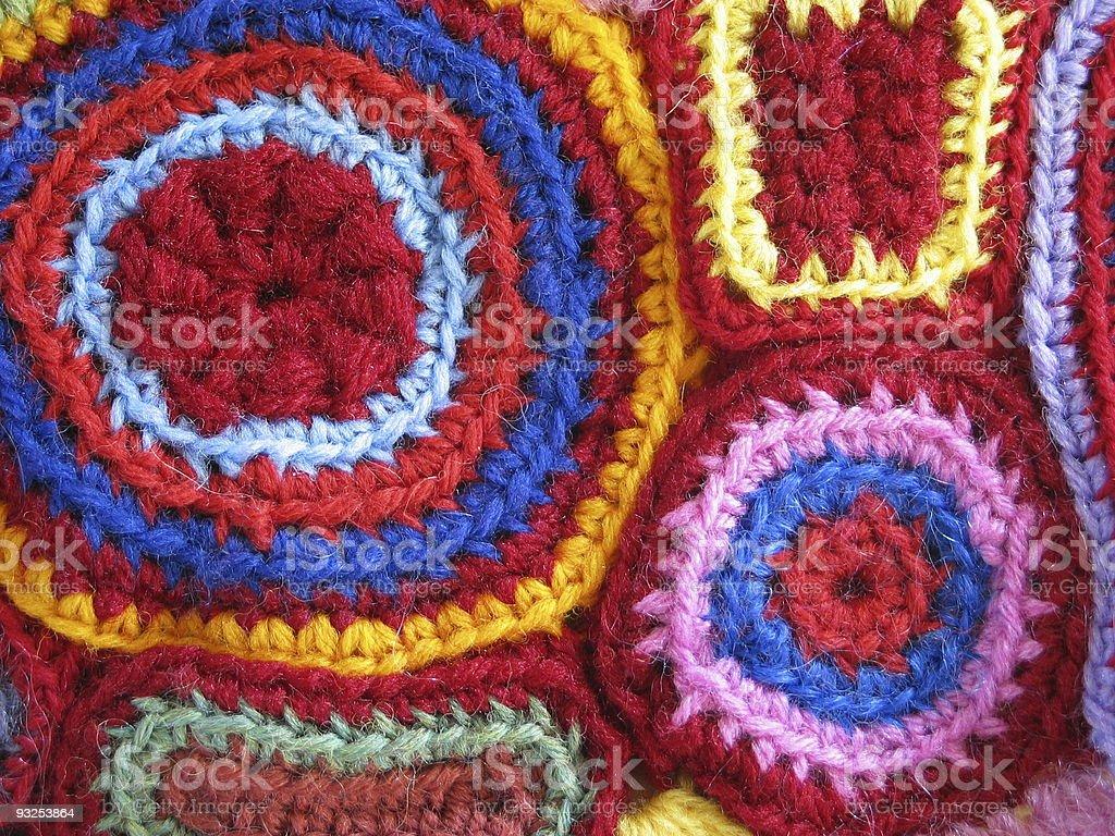 Geometric Crochet royalty-free stock photo