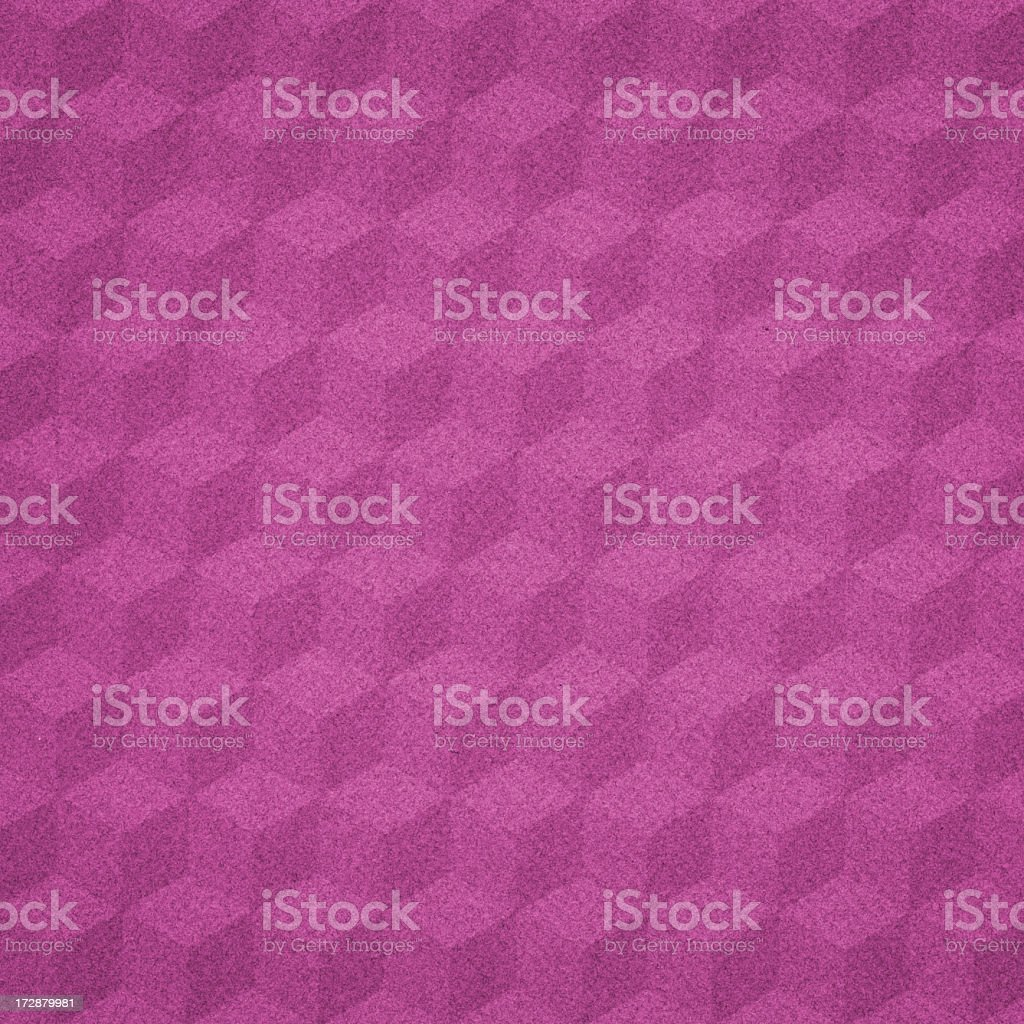 geometric cube pattern on pink paper royalty-free stock photo