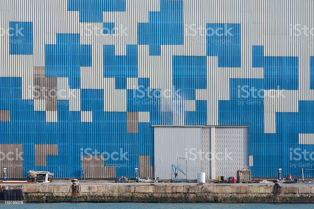 Geometric forms wall royalty-free stock photo