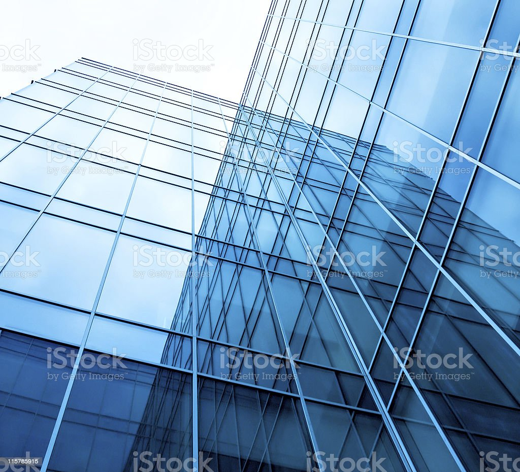 geometric glass building exteriors royalty-free stock photo
