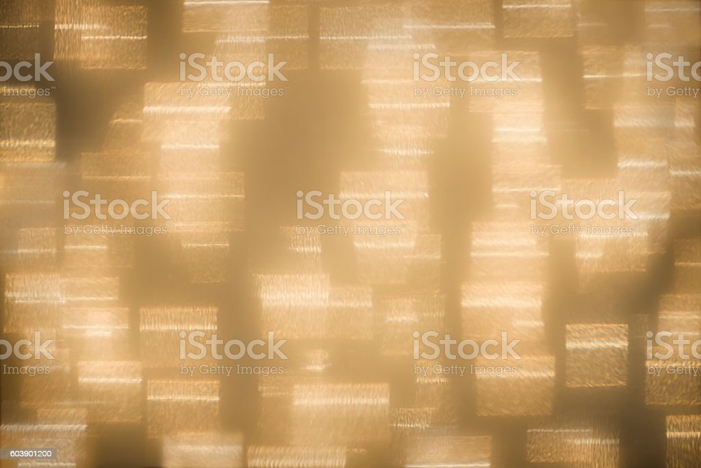 Geometric, Glittery Gold Abstract Holiday Lights Background stock photo