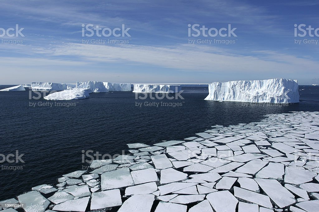 Geometric Ice stock photo