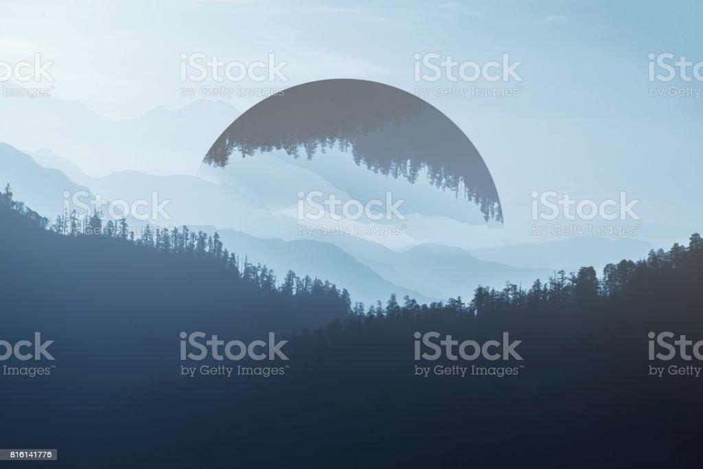 Geometric Mountain stock photo
