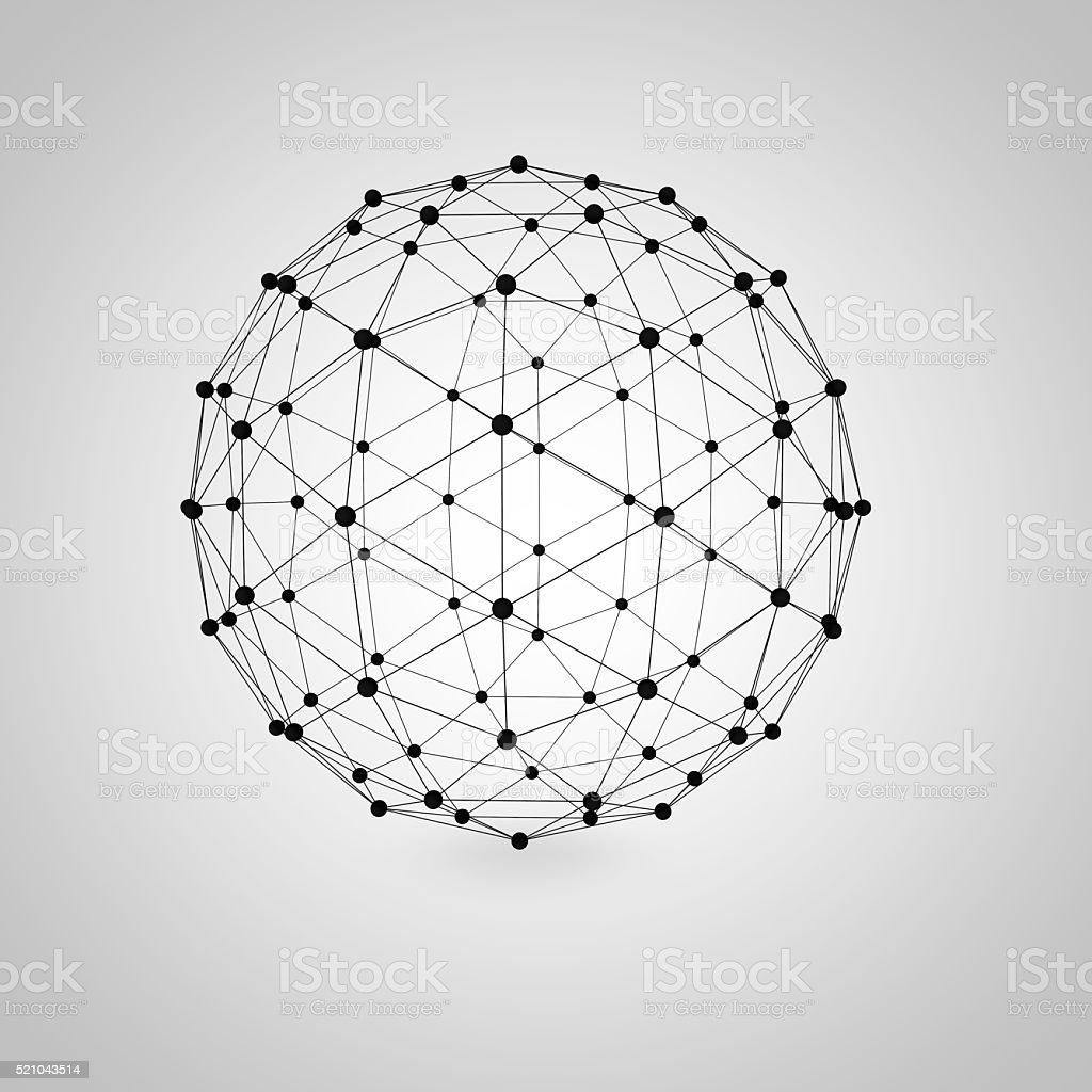 Geometric network stock photo