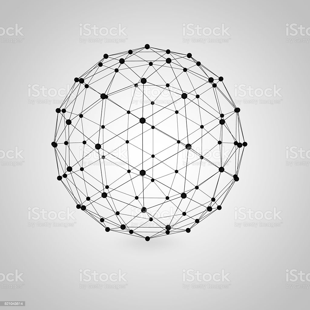 Geometric network stock photo