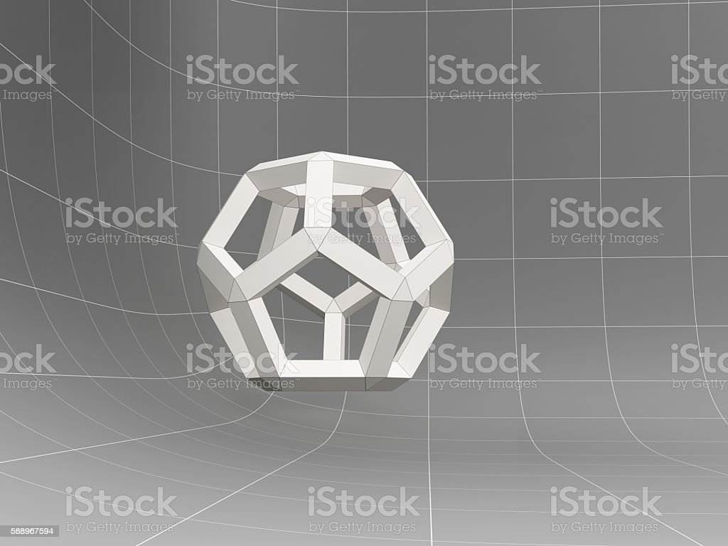 geometric object, 3D abstract stock photo