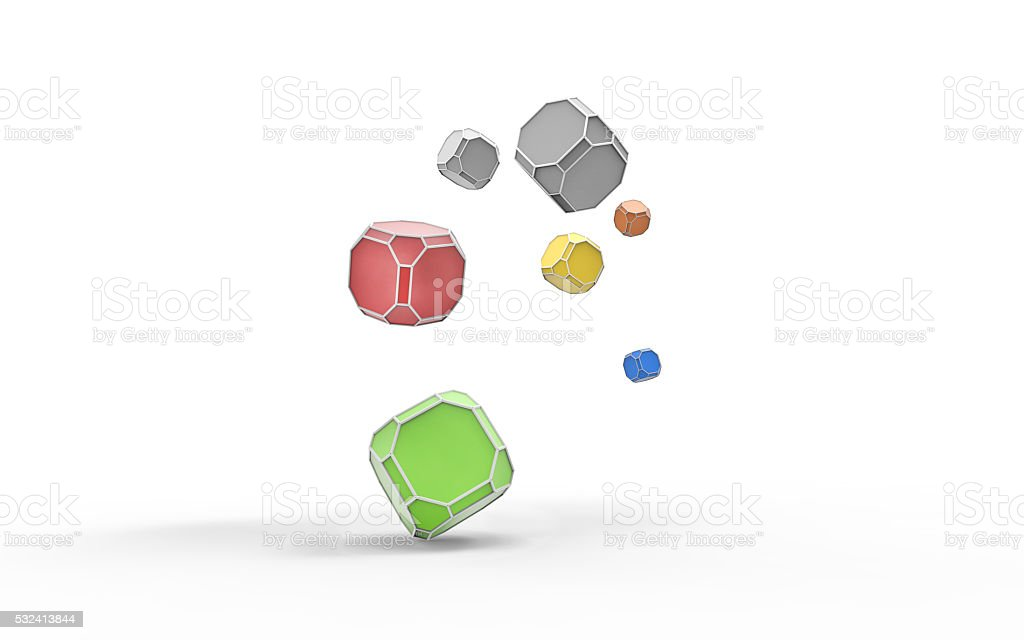 Geometric Shapes art Lowpoly and Ideas stock photo