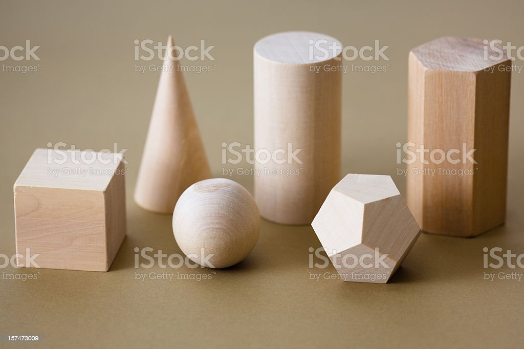 Geometric shapes stock photo