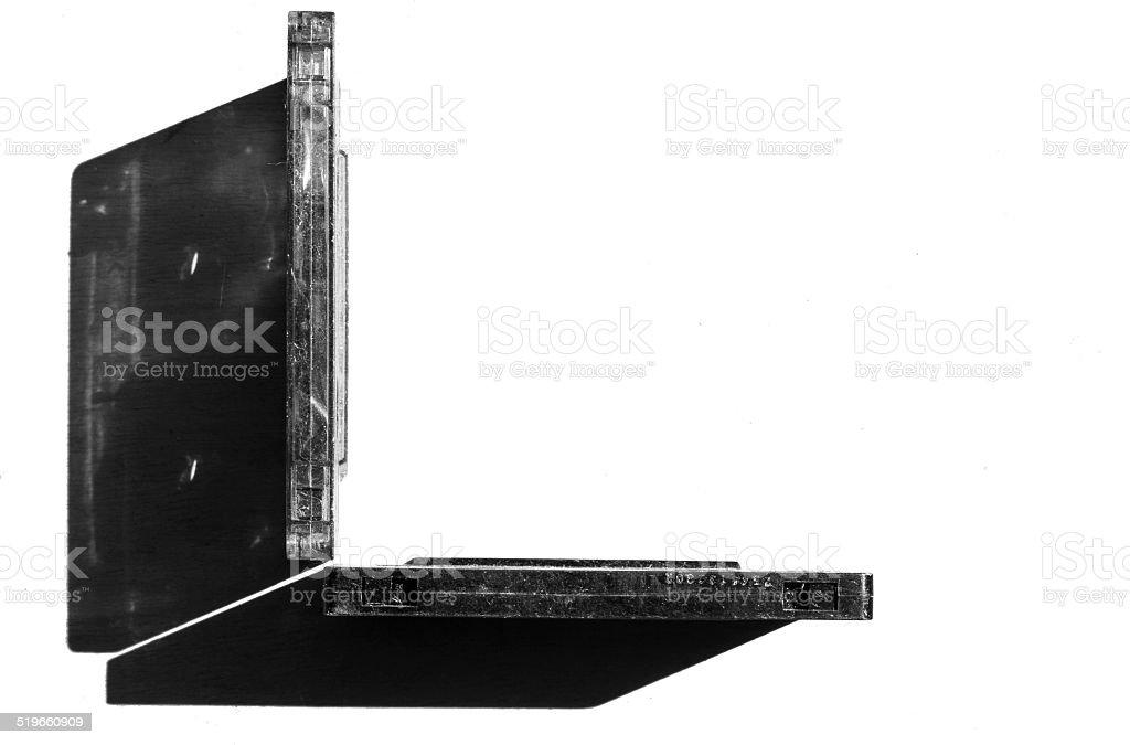 Geometric Standing Cassettes stock photo