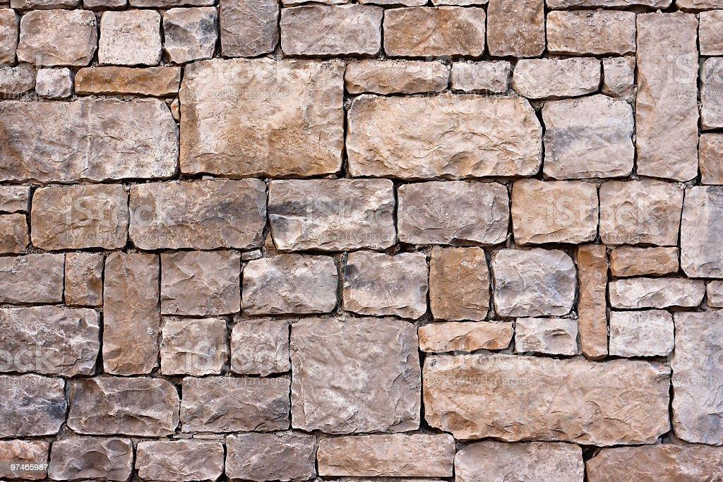 Geometric Stonewall, Architectural Texture Background stock photo