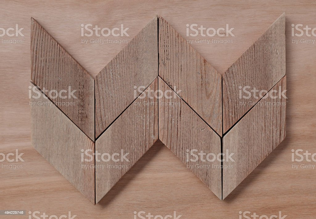 geometric wood forms stock photo