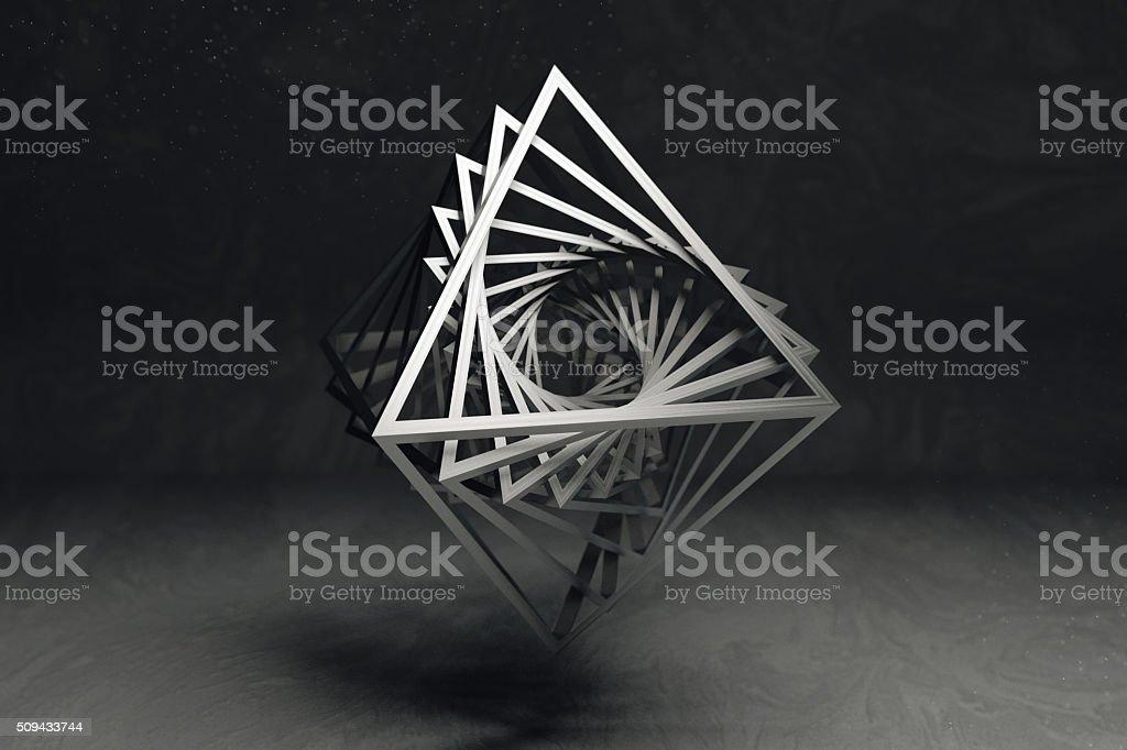Geometrical art concept stock photo