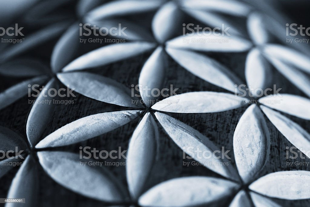 Geometrical carving detail stock photo