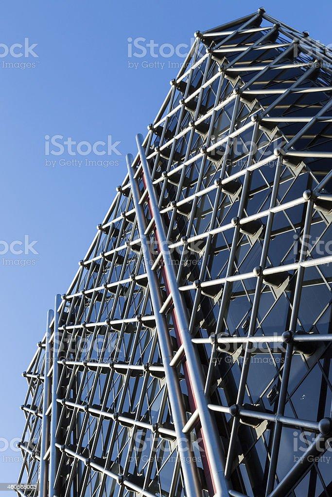 Geometrical Design Facade royalty-free stock photo