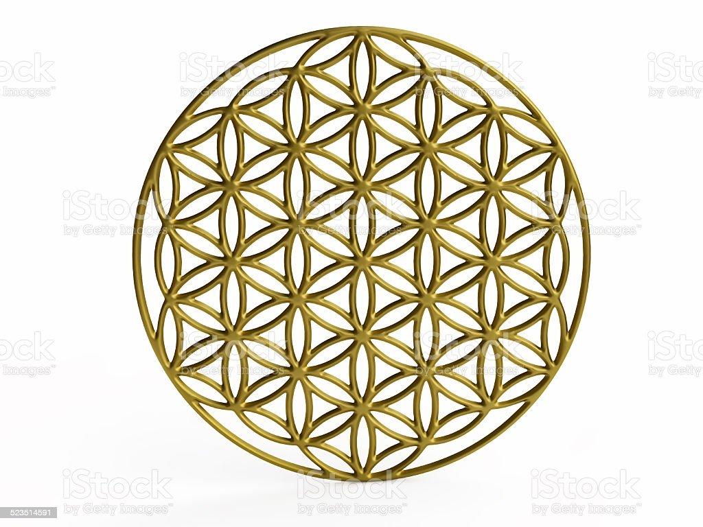 Geometrical Figure of 'Flower of Life' stock photo
