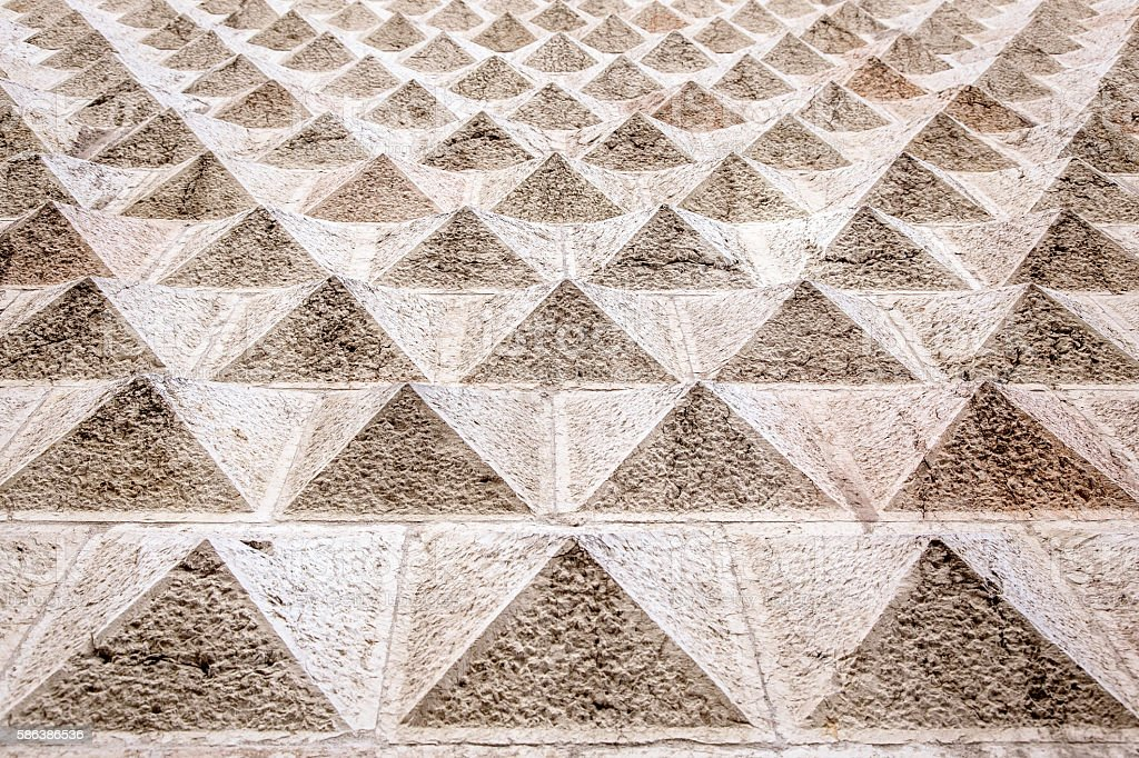 Geometrical pattern architectural decoration stock photo