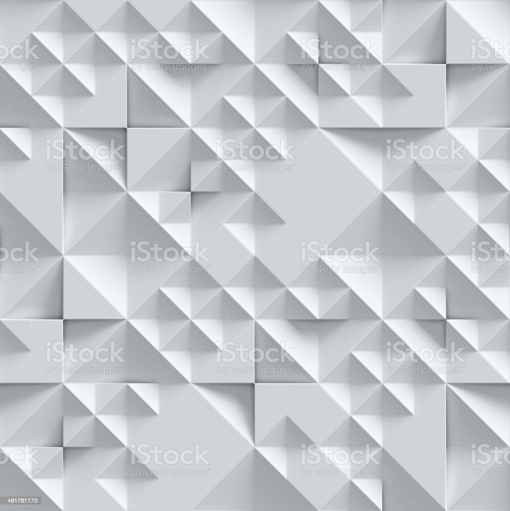geometrical seamless 3d background vector art illustration