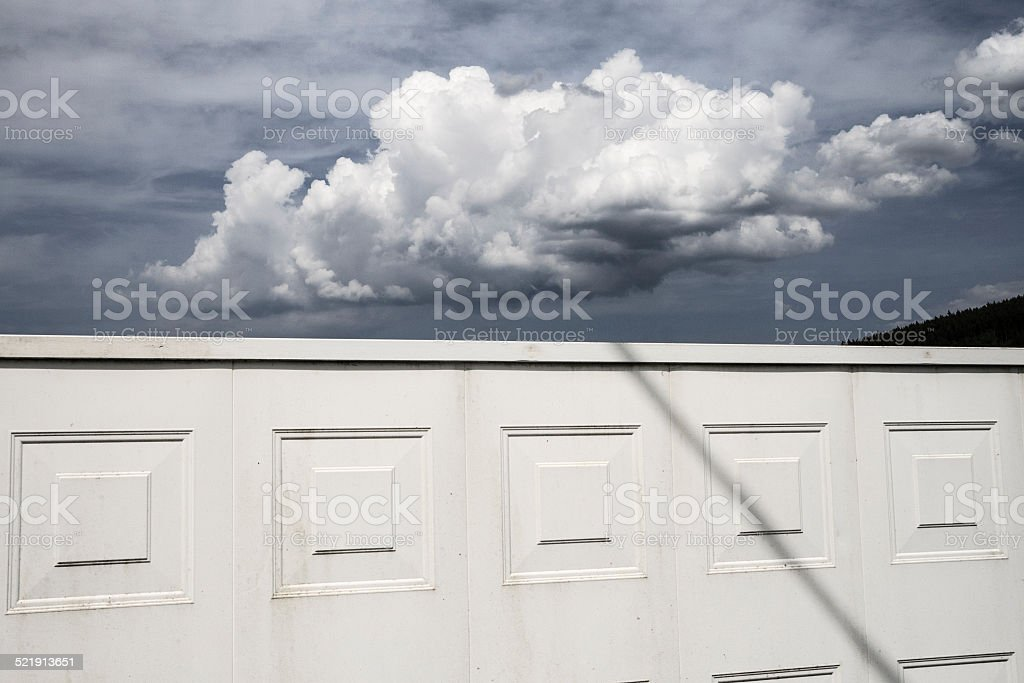 Geometry and cloud stock photo