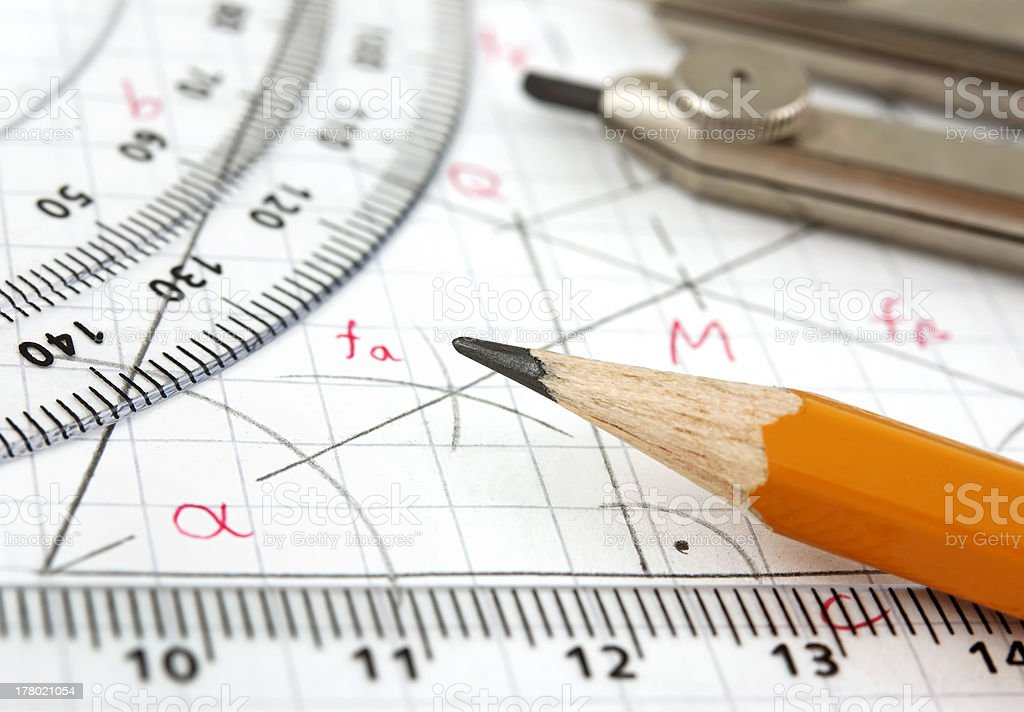 Geometry drawing royalty-free stock photo