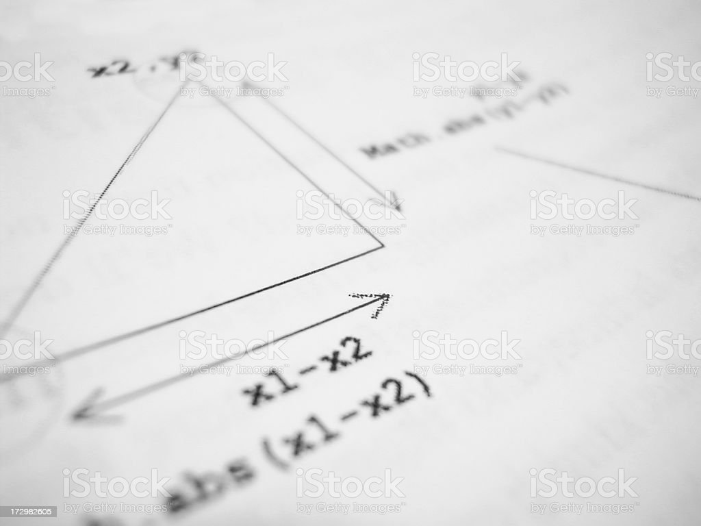 geometry formula royalty-free stock photo