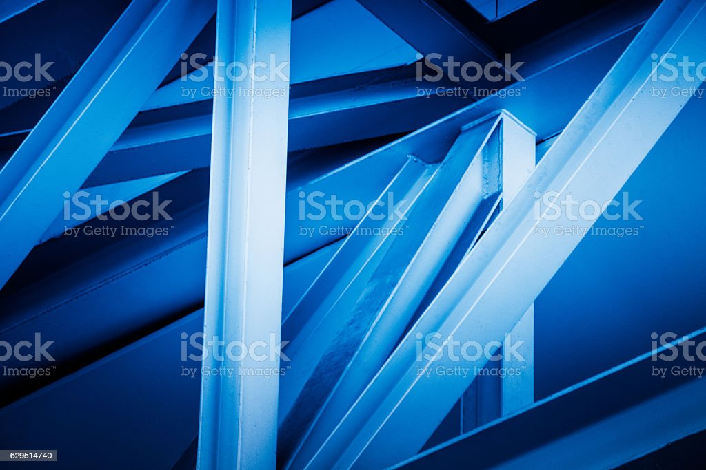 geometry pattern wall of modern building stock photo