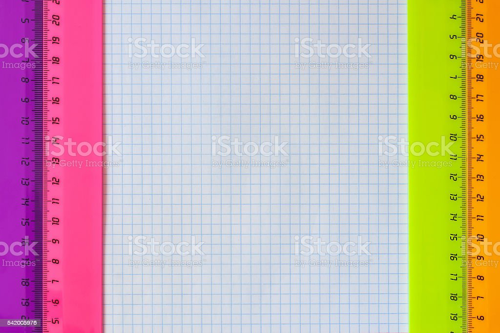 Geometry set with rulers stock photo