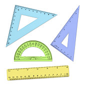Geometry Tools - Rulers and Protractor (with path)