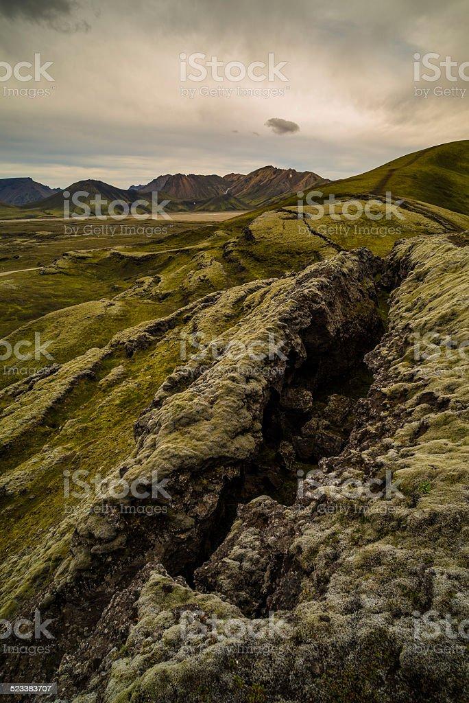 Geomorphology central Iceland stock photo