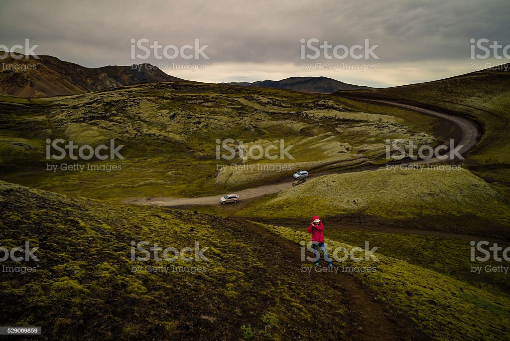 Geomorphology  in central Iceland stock photo