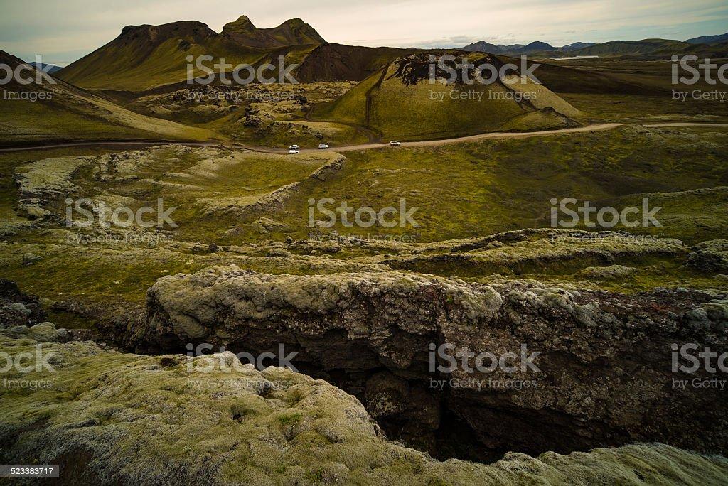Geomorphology of Crack on Ground stock photo