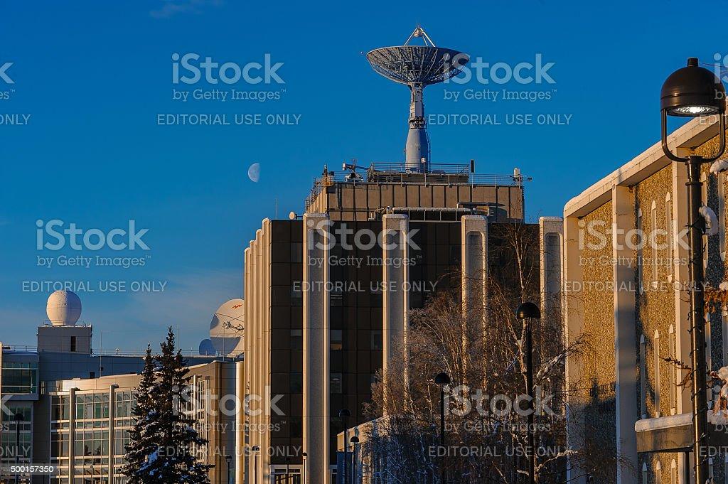 Geophysical Institute Antennas stock photo