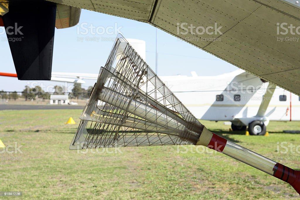 Geophysical Survey Plane stock photo