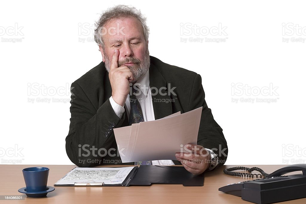 Georg - business reports stock photo