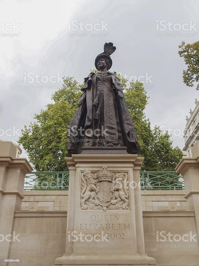 George and Elizabeth monument London stock photo