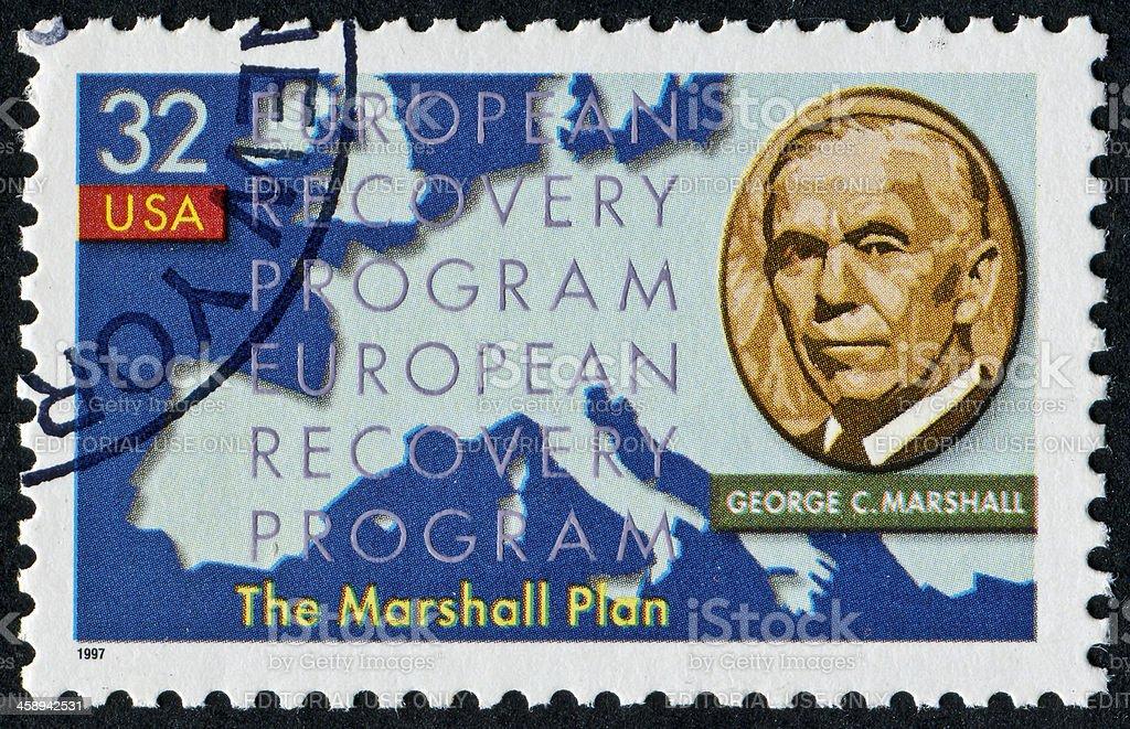 George C. Marshall Stamp stock photo